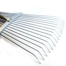 Quantum Garden - Adjustable Metal Lawn Rake 156cm 5ft